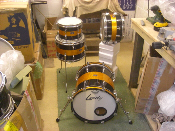 Converted Leedy Kit. 16x16 Bass Drum, 13x12, 12x8, & 10x8 Tom Toms